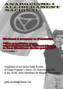 Debat sobre el anarquisme i l'alliberament nacional